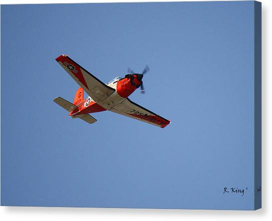 T34 Mentor Trainer Flying Canvas Print