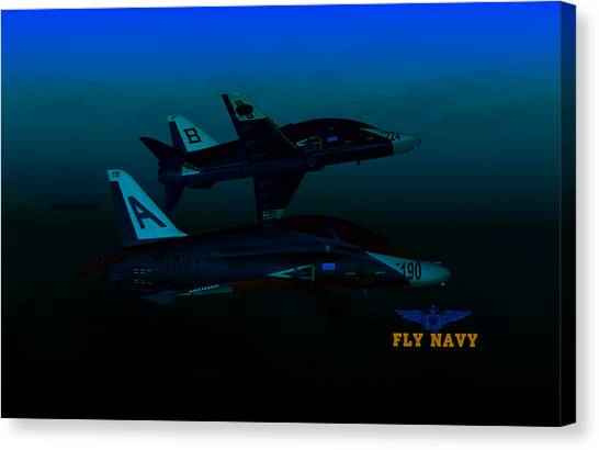 T45 Kiss-off Wt Wings Canvas Print