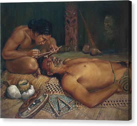 Ta Moko Canvas Print by Peter Jean Caley