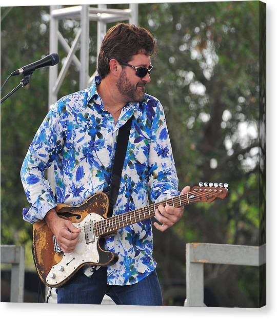Tab Benoit And 1972 Fender Telecaster Canvas Print