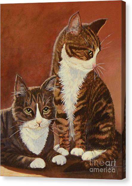 Canvas Print - Tabby Cats Portrait by Marilyn Smith