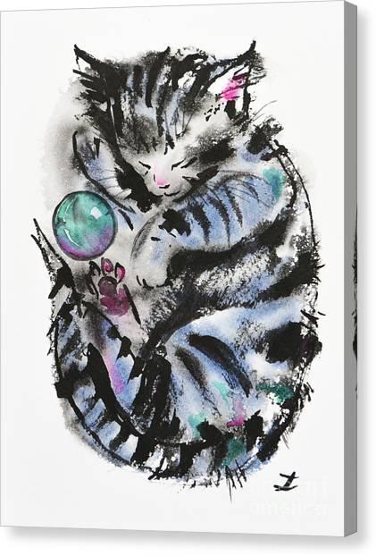 Tabby Dreams Canvas Print