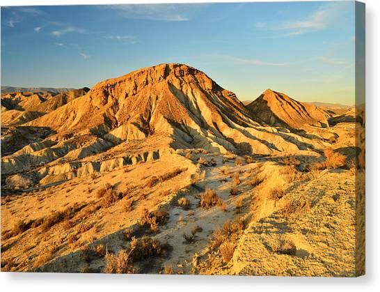 Tabernas Desert Almeria Spain Canvas Print