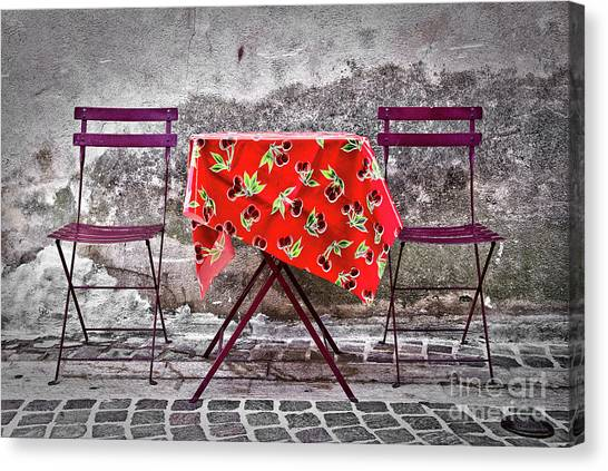 Southern France Canvas Print - Table For Two by Delphimages Photo Creations