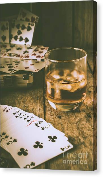 Rum Canvas Print - Table Games And The Wild West Saloon  by Jorgo Photography - Wall Art Gallery
