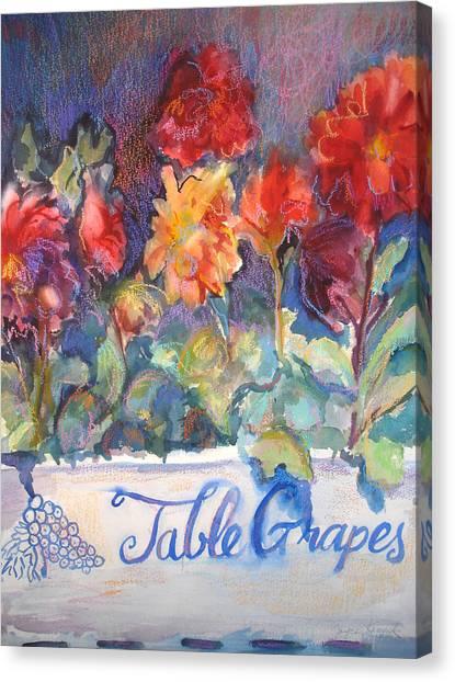 Table Grapes Canvas Print by Joyce Kanyuk
