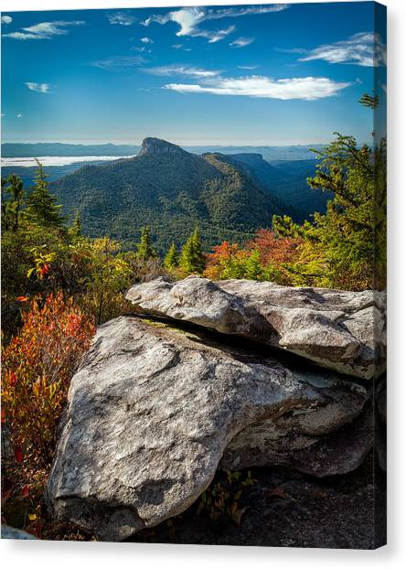 Table Rock Fall Morning Canvas Print