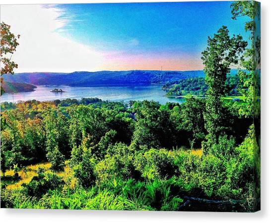 Table Rock Lake Canvas Print by John Derby