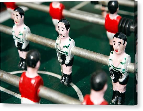 Benfica Canvas Print - Table Soccer by Gaspar Avila