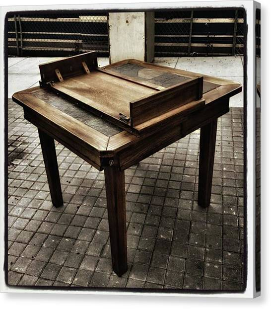 Canvas Print featuring the photograph Table That Thought. This Beautiful by Mr Photojimsf