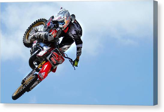 Motocross Canvas Print - Table Top by Craig Incardone