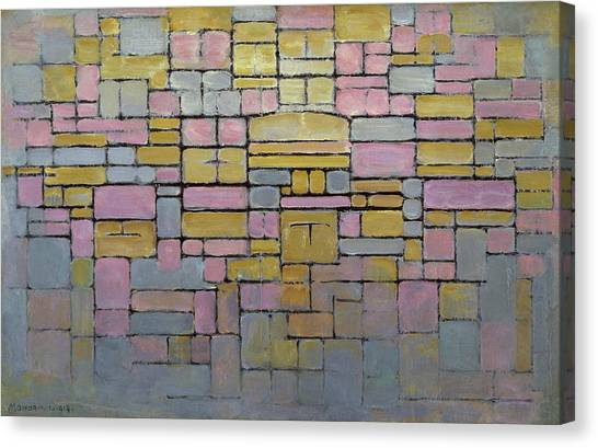 De Stijl Canvas Print - Tableau 2 Composition V by Piet Mondrian