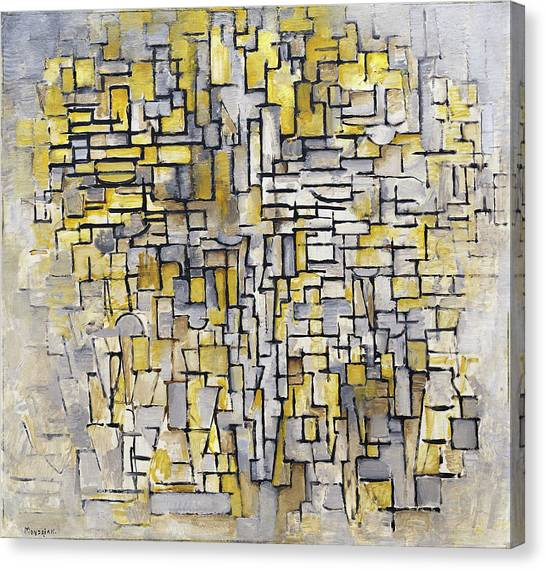 De Stijl Canvas Print - Tableau 2 Composition Vii by Piet Mondrian