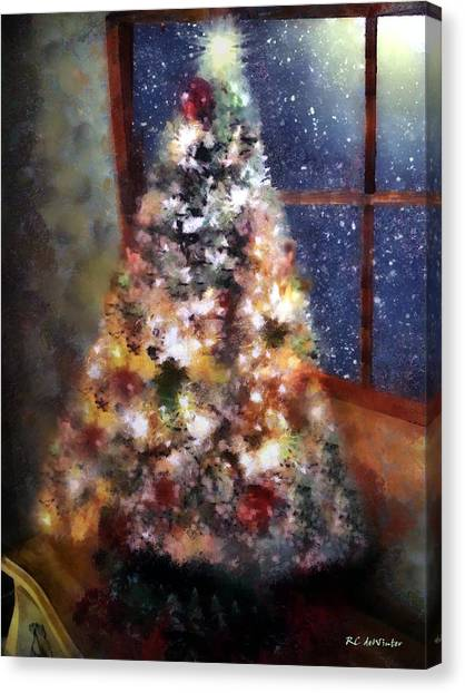 Tabletop Tannenbaum Canvas Print