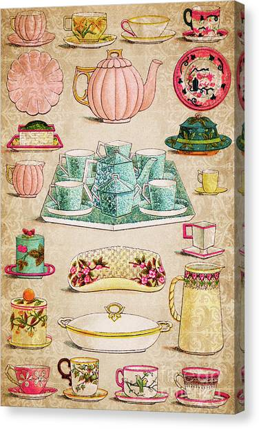 Fashion Plate Canvas Print - Tableware by Delphimages Photo Creations