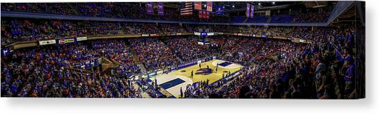 Taco Bell Arena And Boise State Basketball Canvas Print by Lost River Photography