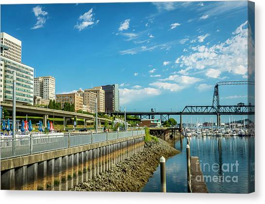 Tacoma And 11th Street Bridge Canvas Print