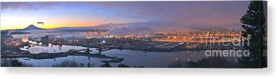 Tacoma Dawn Panorama Canvas Print