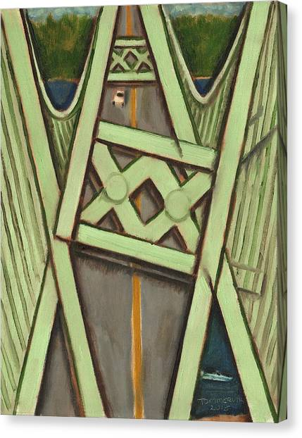 Tacoma Narrows Bridge Collapse  Canvas Print