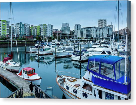 Tacoma Waterfront Marina,washington Canvas Print