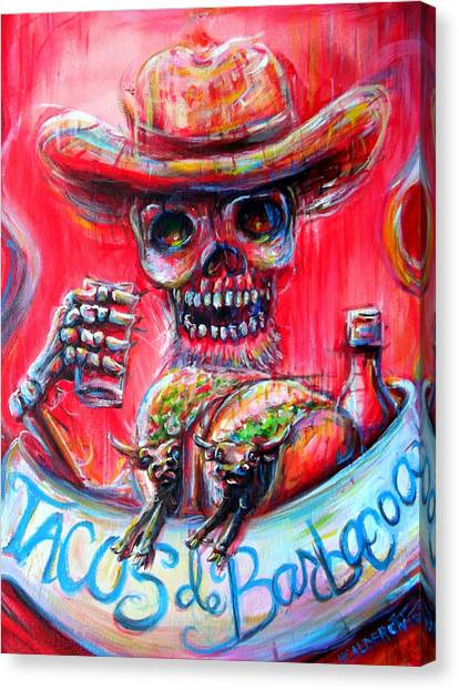 Tacos De Barbacoa Canvas Print