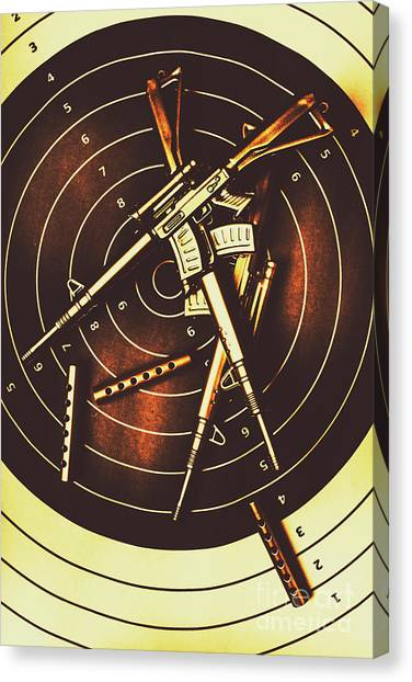 Rifles Canvas Print - Tactical Army Range by Jorgo Photography - Wall Art Gallery