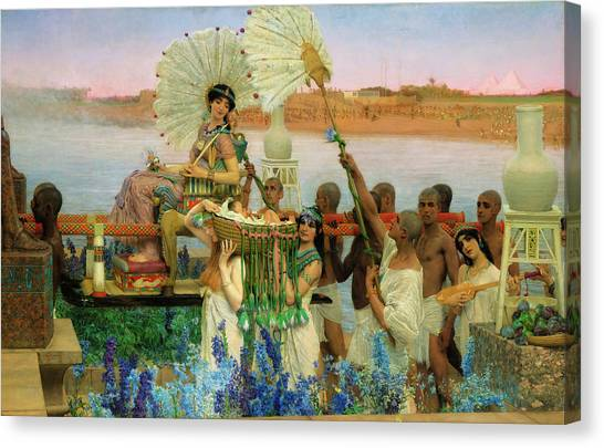 The Nile Canvas Print - The Finding Of Moses by Sir Lawrence Alma-Tadema