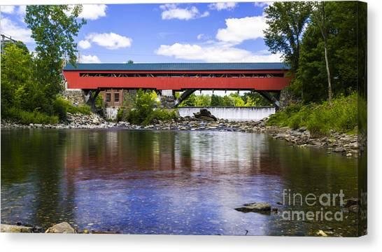 Taftsville Covered Bridge. Canvas Print