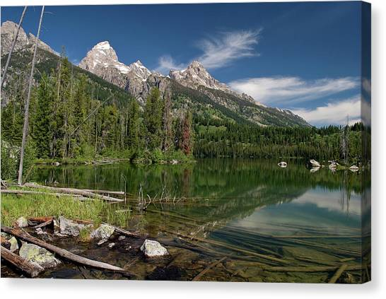 Taggart Lake Visit Www.angeliniphoto.com For More Canvas Print by Mary Angelini