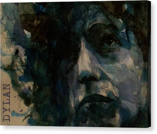 Bob Dylan Canvas Print - Tagged Up In Blue- Bob Dylan  by Paul Lovering