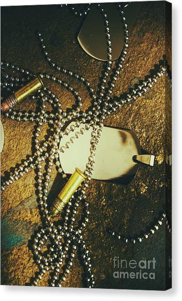 Necklace Canvas Print - Tagging The Fallen by Jorgo Photography - Wall Art Gallery