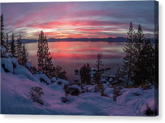 Tahhhhhoe Sunset Canvas Print
