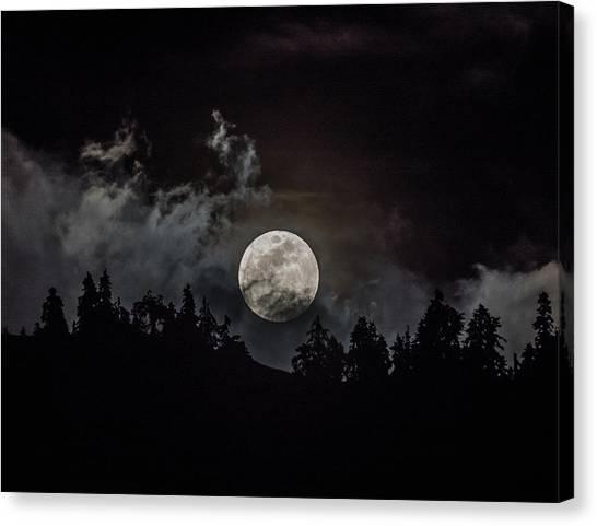 Tahoe Moon Cloud Canvas Print