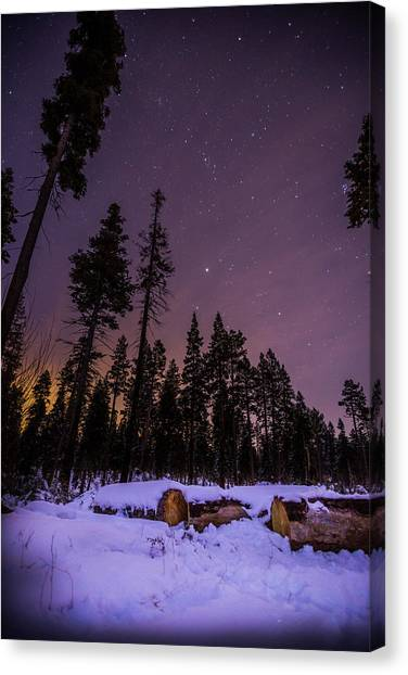 Tahoe Mountain - New Year's Eve Canvas Print by Karl Alexander
