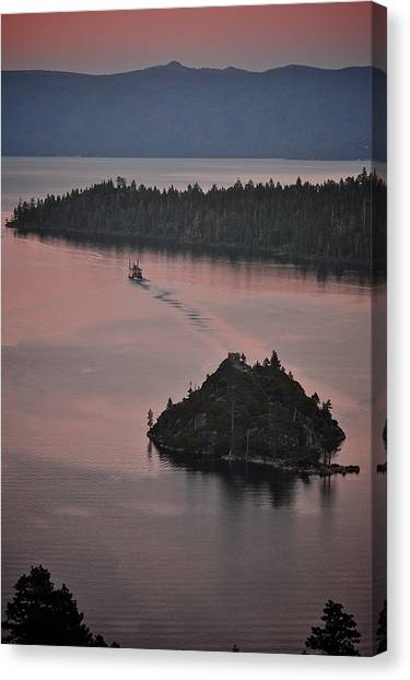 Tahoe Queen Steams Out Of Emerald Bay Canvas Print