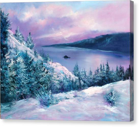 Tahoe Canvas Print by Sally Seago