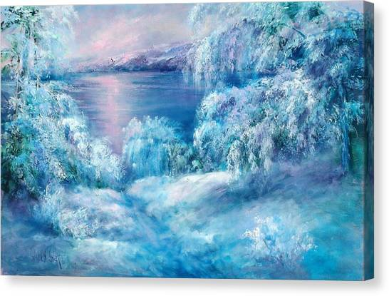 Tahoe Winter Canvas Print by Sally Seago