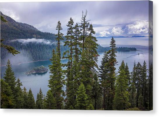 Emerald Bay With Steamboat Canvas Print