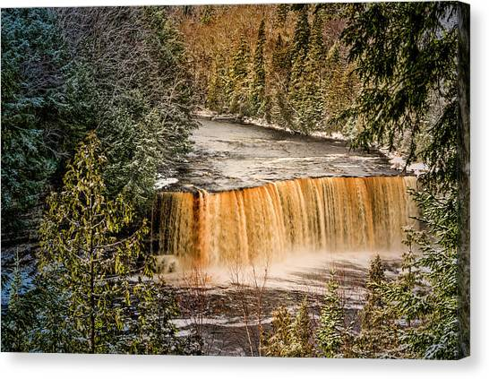 Tahquamenon Winter Falls  Canvas Print