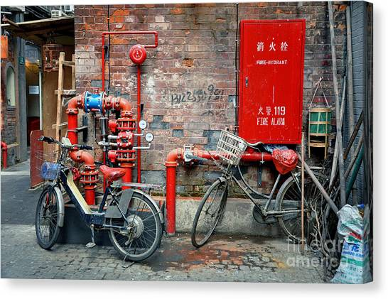 China Town Canvas Print - Taikang Lu by Delphimages Photo Creations
