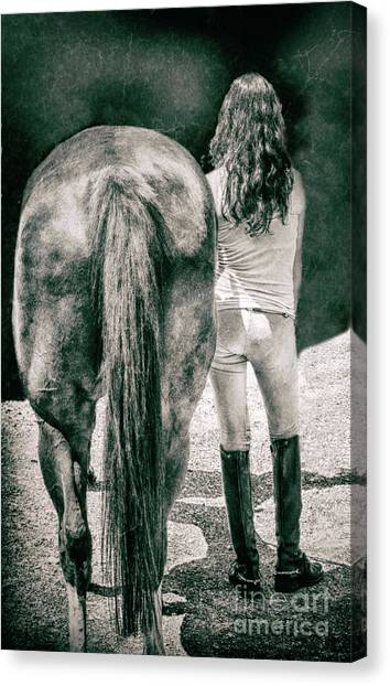 Tails Canvas Print by Steven Digman