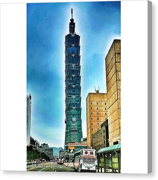 Trip Canvas Print - Taipei 101 (chinese: 台北101 / by Tommy Tjahjono