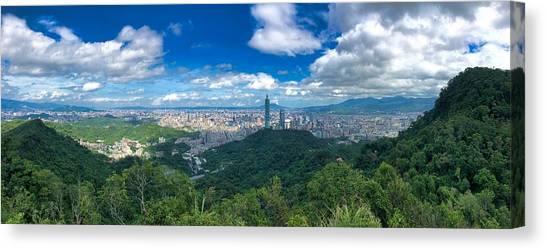Taipei Panorama Canvas Print