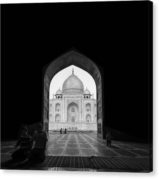 Gates Canvas Print - Taj Mahal by Basem Al-qasim