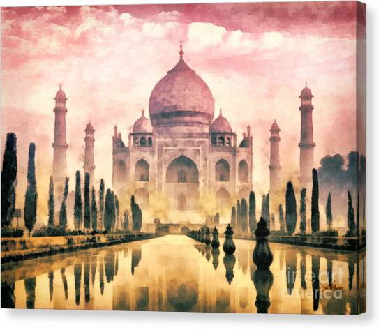 Mo Canvas Print - Taj Mahal by Mo T