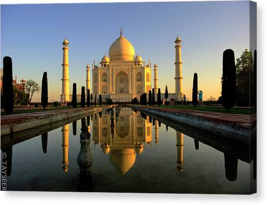 Indian Canvas Print - Taj Mahal by Tayseer AL-Hamad
