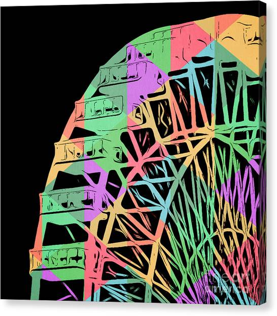 Wheels Canvas Print - Take A Ride On The Ferris Wheel by Edward Fielding