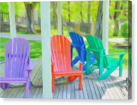 Nova Scotia Canvas Print - Take A Seat But Don't Take A Chair by Jeffrey Kolker
