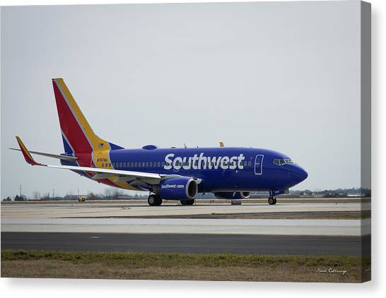 Take Off Southwest Airlines N7878a Hartsfield-jackson Atlanta International Airport Art Canvas Print