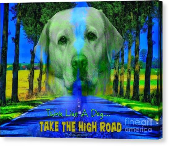 Take The High Road Canvas Print